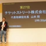 『成長企業を表彰する「Job Creation2014」授与式に行ってきた @ 帝国ホテル』の画像