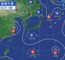 台風13号サンサンが日本に来そう