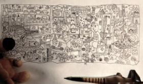 【芸術】  これは本当?  日本で 小学3年生の女の子が書いたボールペンの絵が ツイッターで話題に。   海外の反応