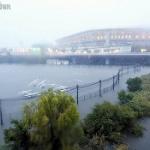 朝日新聞「横浜国際総合競技場周辺が冠水」いやいや、多目的遊水地でそういう設計だから