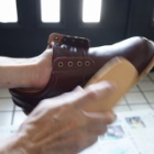 『防水革靴の手入れ | Leather Shoes Maintenance【Hawkins -TR IT LW OX HL82002】』の画像