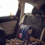 【画像】氷点下の寒い日にペプシ缶を車の中に放置したらこうなる!