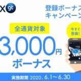 『ハイブリッド仮想通貨FX取引所「FXGT」が、「新規登録3000円ボーナスキャンペーン」を実施!!』の画像