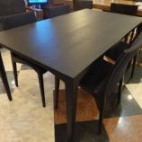 『【北欧テイスト・日進木工のテーブルとチェア2011】 セレクトシリーズのナラ材のワイドが1500ミリのJ type』の画像