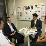 『中部経済新聞稲熊支社長がセキビズに来訪されました!』の画像
