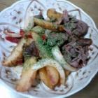 『牛肉ポテト、野菜入り豆腐ハンバーグ』の画像
