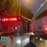 【動画】中国、高速鉄道の新型車両の車両先頭がバスに衝突!路上で起きた珍しい事故