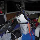『100系ハイエース《バイクの積み込み》』の画像