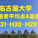 『名古屋大学の合格者平均点を調べてみた。H31・H30・H29』の画像