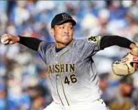 阪神秋山(29) 105回 10勝3敗 防御率3.09 10QS