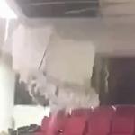 【動画】中国、大学で大規模な雨漏り発生!教室の天井が水の重さに耐えられず崩壊!