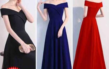『一着、シンプルかつ上品なドレスを選べば、様々なコーディネートが楽しめます』の画像
