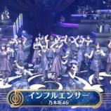 『【乃木坂46】まさかの生バンドw 音楽の日『インフルエンサー』を披露!実況まとめ!!!』の画像