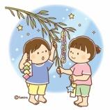 『【クリップアート】短冊を飾る子どもたちのイラスト』の画像