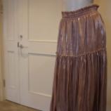『B DONNA (ビドンナ)サテンギャザースカート』の画像