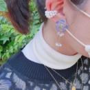 ネモフィラのお花をイメージした耳飾り✨