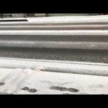 『【本日は原則休講】16時の雪の状況』の画像