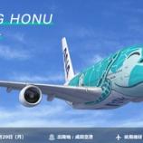 『【ANAトラベラーズ】ANA FLYING HONUチャーターフライト ---3月20日、29日成田発抽選受付開始!---』の画像