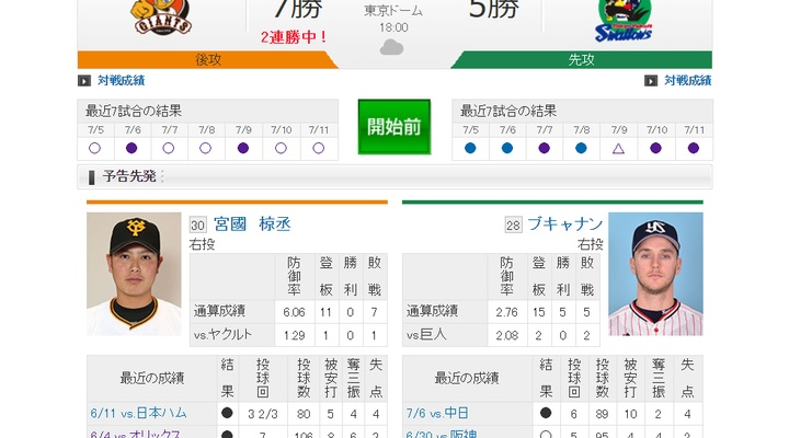 【 巨人実況!】vs ヤクルト(13回戦)!先発は宮國!18:00~