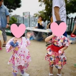 娘 幼稚園の夏祭りに行く