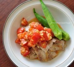 さっぱり&ジューシー◎豚肉のトマトナムル2020