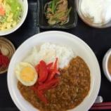 『今日の桜町昼食(キーマカレー)』の画像