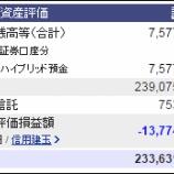 『週末(7月8日)の保有資産。2億3363万1784円』の画像