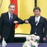 『中国は尖閣を自国警備しているだけです。茂木外相がニヤニヤしたからですね。』の画像