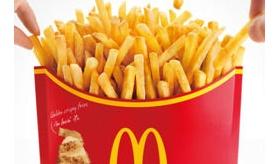 【食】    日本のマクドナルドには Lサイズ2つ分の メガフライドポテト という商品があるらしいぞ。    海外の反応