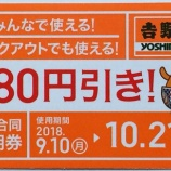 『吉野家で3社合同定期券を買ってきた!牛丼を食べて早速80円引き!【クーポン】』の画像