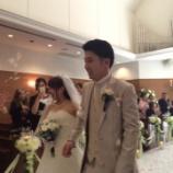 『結婚式はいいですね♪』の画像