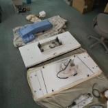 『【ハシマ製HP-125FA(フラット接着機)とJUKI製MEB-3200(電子鳩目穴かがりミシン)の移設作業】愛知県一宮市から岐阜県関市の縫製工場まで移設しました!』の画像