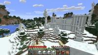 西大陸の雪の城の近くに塔を建てる