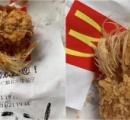中国のマクドナルドのナゲットで羽根が付いたまま提供 羽根付きチキンってこういう意味じゃ無いぞ!