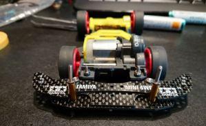 フロント1軸アンカーのミニ四駆