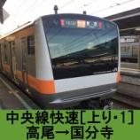 『中央線快速 車窓[上り・1]高尾→国分寺』の画像