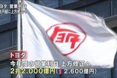 トヨタ、利益2兆2000億円に上方修正へ