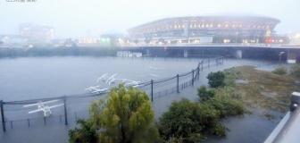 朝日新聞、遊水地と化した日産スタジアムを「冠水した」とツイートしてしまう