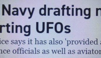 UFO見たら報告を!近年、正体が分からない飛行物体の目撃が相次ぐ…米海軍がガイドライン
