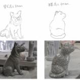 『G633 犬・猫 彫刻』の画像