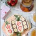 【レシピ】フライパン一つで作るカスタードクリーム&フルーツサンドイッチ。と ハナウタの台所。