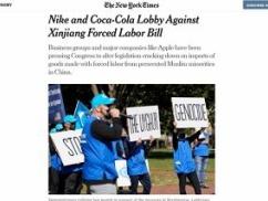 在日差別を捏造したNIKEさん「ウイグル人に強制労働させろ」とロビー活動していた事が発覚wwwwww