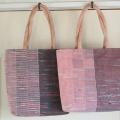 裂き織りのトートバッグ 4個