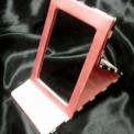 小劇場女優様 化粧前一式◆濃ピンク◆鏡