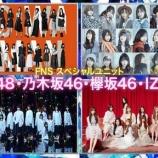 『乃木坂46×欅坂46×IZ*ONE×AKB48 SPユニットで新曲発表キタ━━━━(゚∀゚)━━━━!!!』の画像