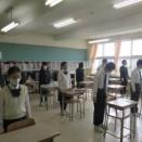 全校集会(終業式)が行われました