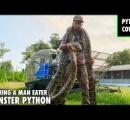 「パイソン・カウボーイ」の異名をもつ男性、体長5.2メートルの巨大ヘビと格闘、素手で捕獲 米フロリダ州