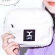 【速報】mini (ミニ) 2020年 02月号 《特別付録》 X-girl(エックスガール)ファスナーポケット付きもこもこポーチ
