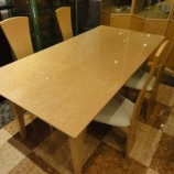 『【住賓館設定のフルオーダー家具】 松創のバーズアイメープルミガキ仕様のダイニングテーブル』の画像