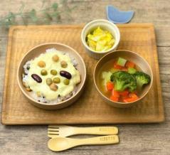 【取り分け・レシピ】カミカミ期〜大人まで、鶏ひき肉のビーンズドリア